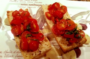 how to make bruschetta without basil